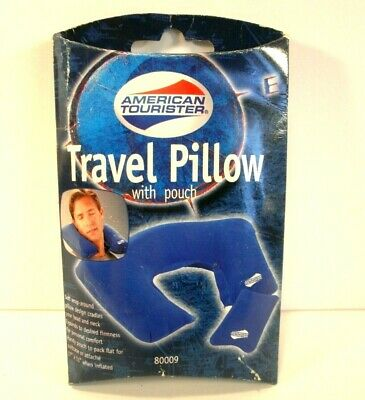 2 American Tourister Inflatable Travel Pillows with Pouches # AM0004BL