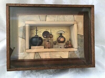Stephan Mark Paulsen Wood Diorama Exotic Gold Treasure*The Seven Spirit Vessels""