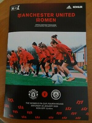 Manchester United Women v Man City Programme - FA Cup 4th Rd - 25 January 2020