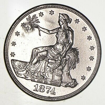 Authentic United States - TRADE Dollar - 1874-S - Silver Dollar - RARE *675