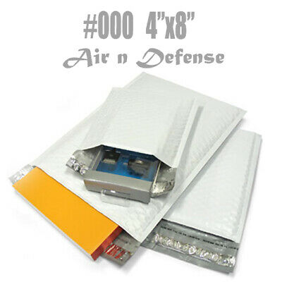 50 #000 POLY BUBBLE PADDED ENVELOPE MAILERS BAGS 4 x8 SELF SEAL Shipping T