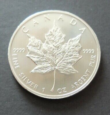 2010 FINE .9999 1oz SILVER CANADIAN MAPLE LEAF $5 BULLION COIN, LOT#R1