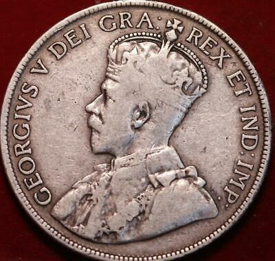 1917 Canada 50 Cents Silver Foreign Coin