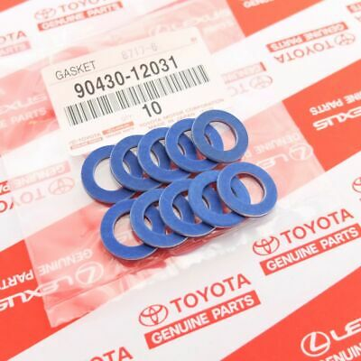 Genuine Toyota Lexus Scion Oil Drain Plug Washer Gasket 90430-12031 - Set Of 10