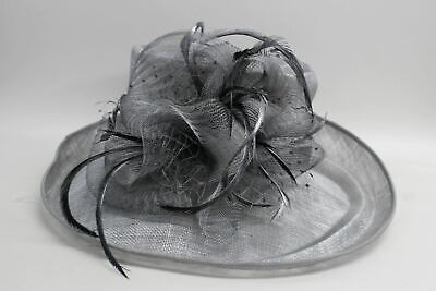 DARCIE MAE Ladies Silver Wedding Races Disc Molly Occasions Hat One Size BNWT