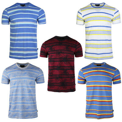 2020 Men's Short-sleeved T-shirt Trend Summer Fashion Students Loose Striped Tee