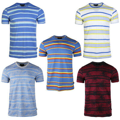 2020 Men's Cotton Short sleeved Tee Trend Summer Students Loose Striped T-shirt
