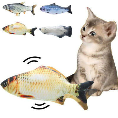 Pet Electric Interactive Cat Wagging Fish Realistic Plush Catnip Plush Mint Toys