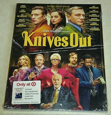 New Knives Out Blu-ray/DVD/Digital + Movie Novel & Slipcover Target Exclusive