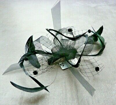 BNWT Biot Feather Looped Comb Fascinator Wedding Royal Ascot Hen Do Christening
