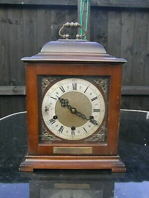 Edwardian Smiths Mahogany Mantle / Bracket Clock / Westminster Chimes