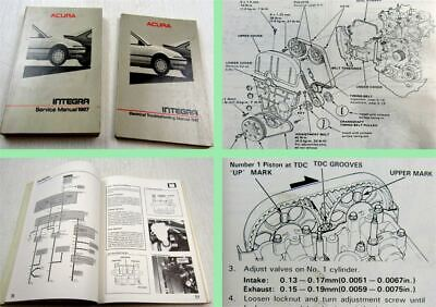 Honda Integra Acura Service Manual + Electrical Troubleshooting Manual 1987