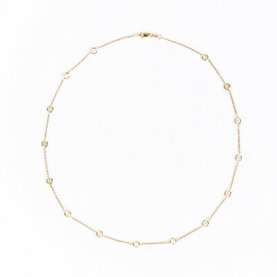 Roberto Coin 18k Gold Diamond by the Inch  Necklace