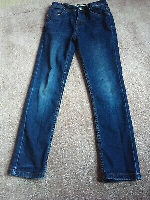 Primark Girls Blue Skinny Jeans Age 8-9 Years Good Condition
