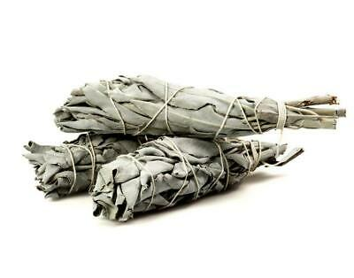 "(2 pack) White Cali Sage Smudge stick. Made in USA. 3""-4"". Natural."