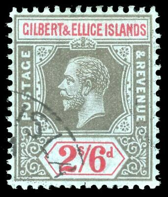 Gilbert & Ellice Islands 1912 KGV 2s6d black & red/blue VFU. SG 22. Sc 24.