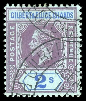 Gilbert & Ellice Islands 1912 KGV 2s purple & blue/blue VFU. SG 21. Sc 23.