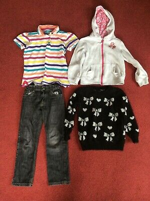 Bundle of mixed boys / girls clothes age 6 - 10 years jeans jumpers top Hoodie