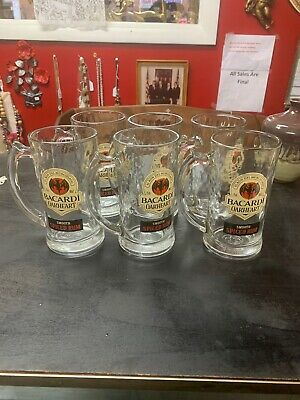 Vintage Bacardi Oakheart Spiced Rum Mugs Set of 6