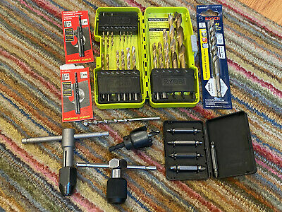 Assorted Lot of Drill Bits New and Used RYOBI BOSCH Titaium HSS