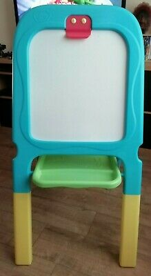 Chad Valley easel whiteboard/magnetic/blackboard folds flat inc accessories used
