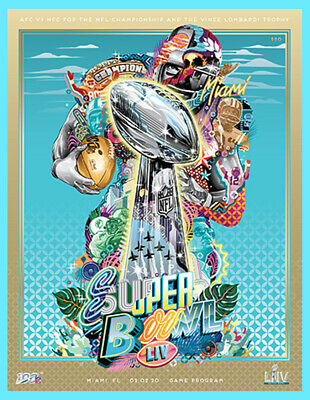 Super Bowl 54 Official Holographic Stadium Game Program Liv 2020 Damaged