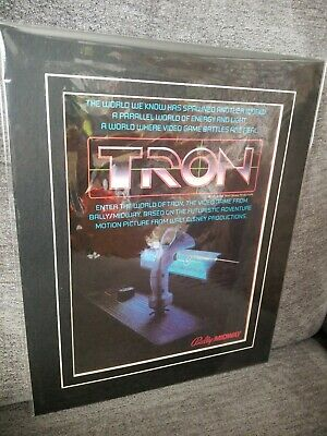 MATTED AD 1982 Bally MIDWAY TRON Arcade video game coin-op Lightcycle User Encom