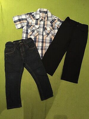 Bundle Toddler Boys Clothes Age 2-3 Years Shirt Smart Trousers Jeans Next