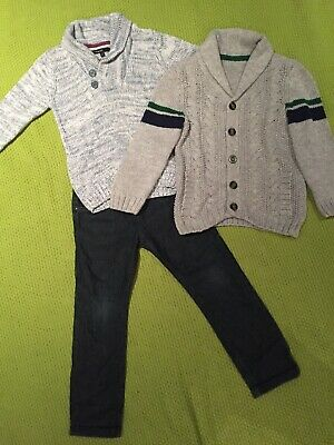 Bundle Boys Clothes Age 3-4 Years Jumper Cardigan Jeans M&S Autograph NEXT