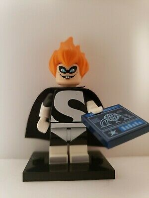 "LEGO 2016 DISNEY MINIFIGURE~/""SYNDROME/""~THE INCREDIBLES MOVIE ~SERIES 1~ON BASE"