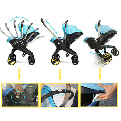 4 in 1 Portable born Baby Stroller Trolley With Accesories Infant(Blue) Fad