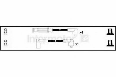 Intermotor Ignition Lead Set 73308 Replaces 0,B217