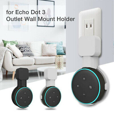 Outlet Wall Mount Hanger Holder Stand Socket for Amazon Echo Dot 3nd Generation