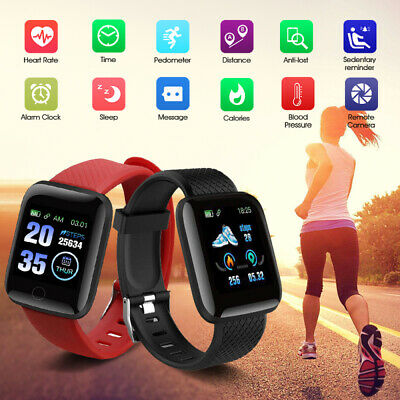 116plus Smart Watch Bluetooth Heart Rate Step Count Monitor Fitness Tracker UK