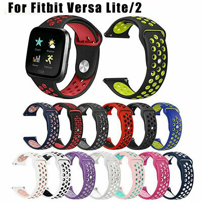 Fitbit Versa Lite / 2 Band Replacement Silicone Watch Strap Sports Wristband AU
