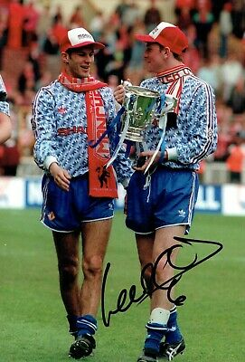 Lee SHARPE SIGNED Autograph Manchester United RARE 12x8 Photo AFTAL COA MUFC