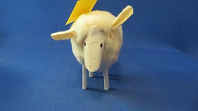 Hand Made Sheep Natural Sheep Skin On carved Wood by Navajo Dineh Scott With COA