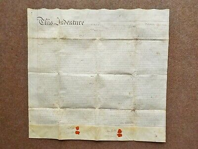 1818 Ireland Kilkenny Dublin Vellum Deed Indenture appointing Revenue Collector