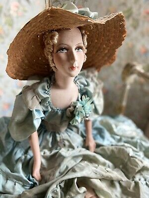 Frankreich 20/30er Jahre Sofa Puppe Vintage Boudoir Doll french Shabby