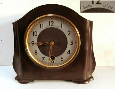 Vintage Smiths Enfield 8 Day Bakelite Mantle Clock - 50's