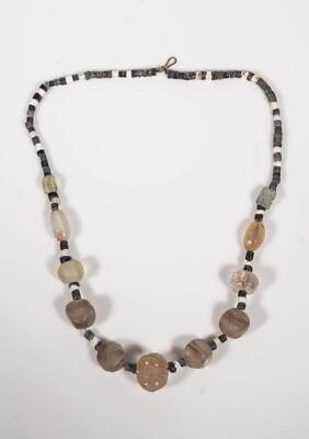 Ancient Roman Carnelian Agate and Quartz Beads Necklace