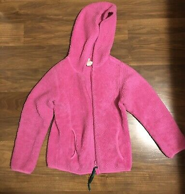 Little Girls Small Size 6 Pink Fuzzy Jacket Made By Faded Glory