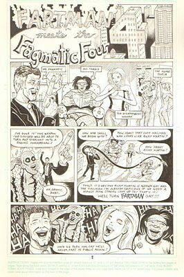 Fartman Meets the Fragmatic Four Complete 8 Page Story - Howard Stern - art by ?