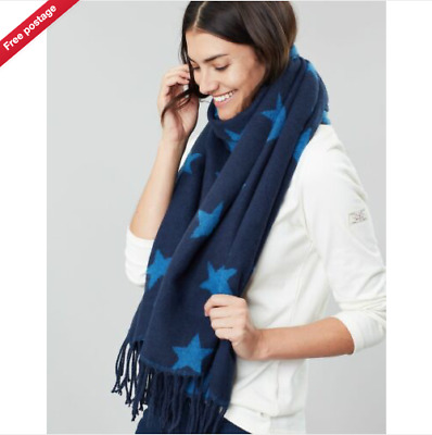 Joules Womens Mardale Reversible Scarf - NAVY STAR in One Size