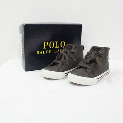 POLO RALPH LAUREN Hi-Top Sneakers (Brown and White) Toddler AU Size 6.5 #402