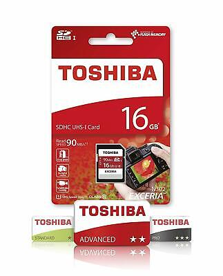 Toshiba 16GB Ultra SDHC SD Card Class 10 UHS-I Memory Card 90MB/S For Camera