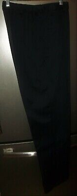 New Without Tags Ladies Lands End Slacks Pants Size 16 Tall 16T Black