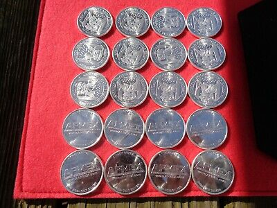 Lot of ( 20 )  .999 Fine Silver Round 1 oz - Silver Rounds