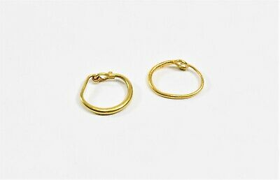 A Pair of Ancient Roman Gold Hoop Earrings