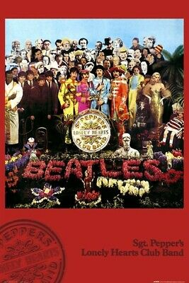 Beatles Poster Sgt Peppers Lonely Hearts Club Band 24 inches by 36 inches The